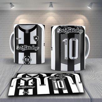 Caneca Time de Futebol Time Botafogo RJ Mod 4
