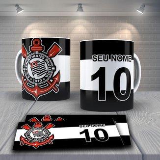 Caneca Time de Futebol Time Corinthians Mod 9