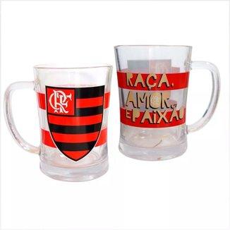 Canecão De Vidro Flamengo