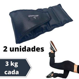 Caneleira De Peso Academia Tornozeleira 3kg (par) Stuffs Shop