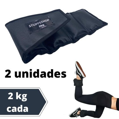 Caneleira De Peso Academia Tornozeleira Stuffs Shop 2kg (par)