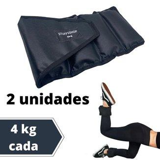 Caneleira De Peso Academia Tornozeleira Stuffs Shop 4kg (par)