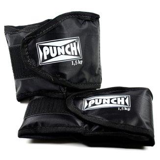 Caneleira Tornozeleira com peso 1,5 Kg Punch
