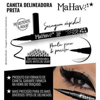 Caneta Delineadora Preta - Mahav - CD-MH