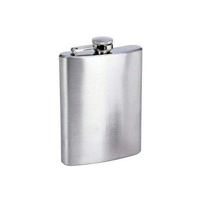 Cantil Garrafa De Bolso 200Ml Em Inox Porta Bebida Whisky Vodka