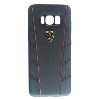 apa Para Smartphone Ferrari Para Galaxy S8 Preta FEOFOHCS8BK Uma elegante capa para Smartphone, feita com couro genuíno...
