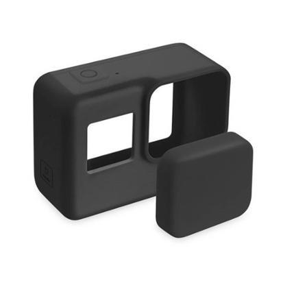 Capa Protetora e Lente em Silicone Para GoPro 5-7