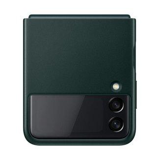 Capa Protetora Galaxy Z Flip3 Couro Verde