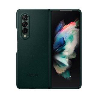 Capa Protetora Galaxy Z Fold3 Couro Verde