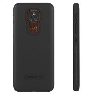Capa Protetora Original Motorola Moto E7 Plus - Preto