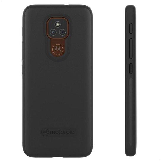 Capa Protetora Original Motorola Moto E7 Plus - Preto - Preto