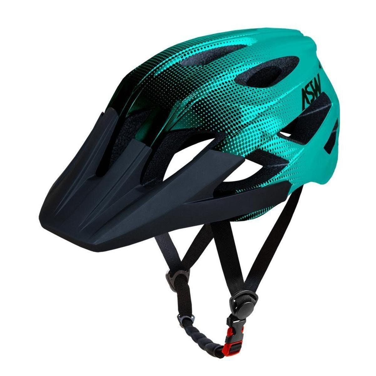 Capacete ASW Bike Accel Dots - Verde e Preto | Netshoes