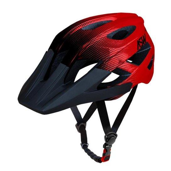 Capacete ASW Bike Accel Dots - Vermelho e Preto | Netshoes
