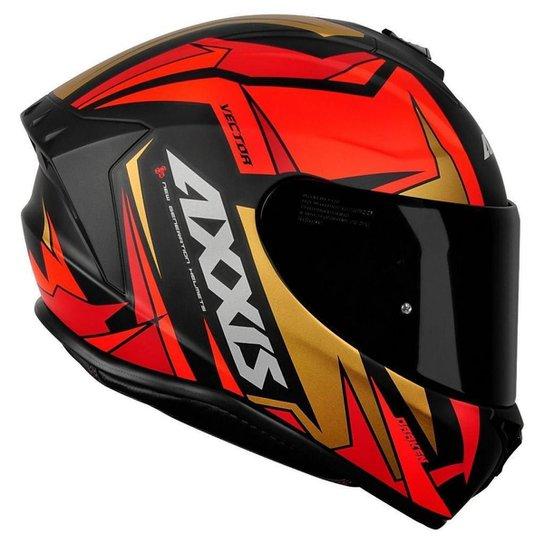 Capacete Axxis Draken Vector Matte - Vermelho