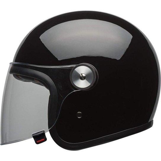 Capacete Bell Riot Mono Preto Brilho - 58 - Preto