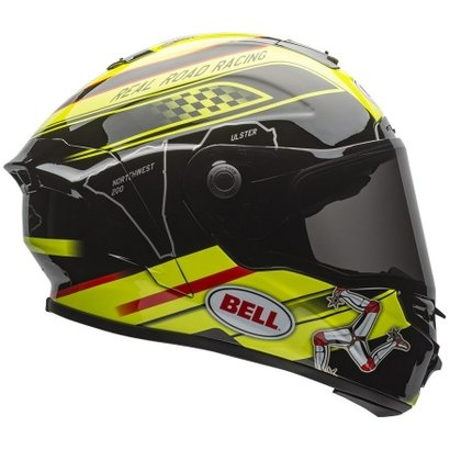 Capacete Bell Star Isle Of Man Preto/Amarelo - 63/64 (Ggg/2Xl)