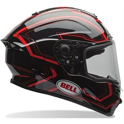 Capacete Bell Star Pace Preto/Vermelho - 63/64 (Ggg/2Xl)
