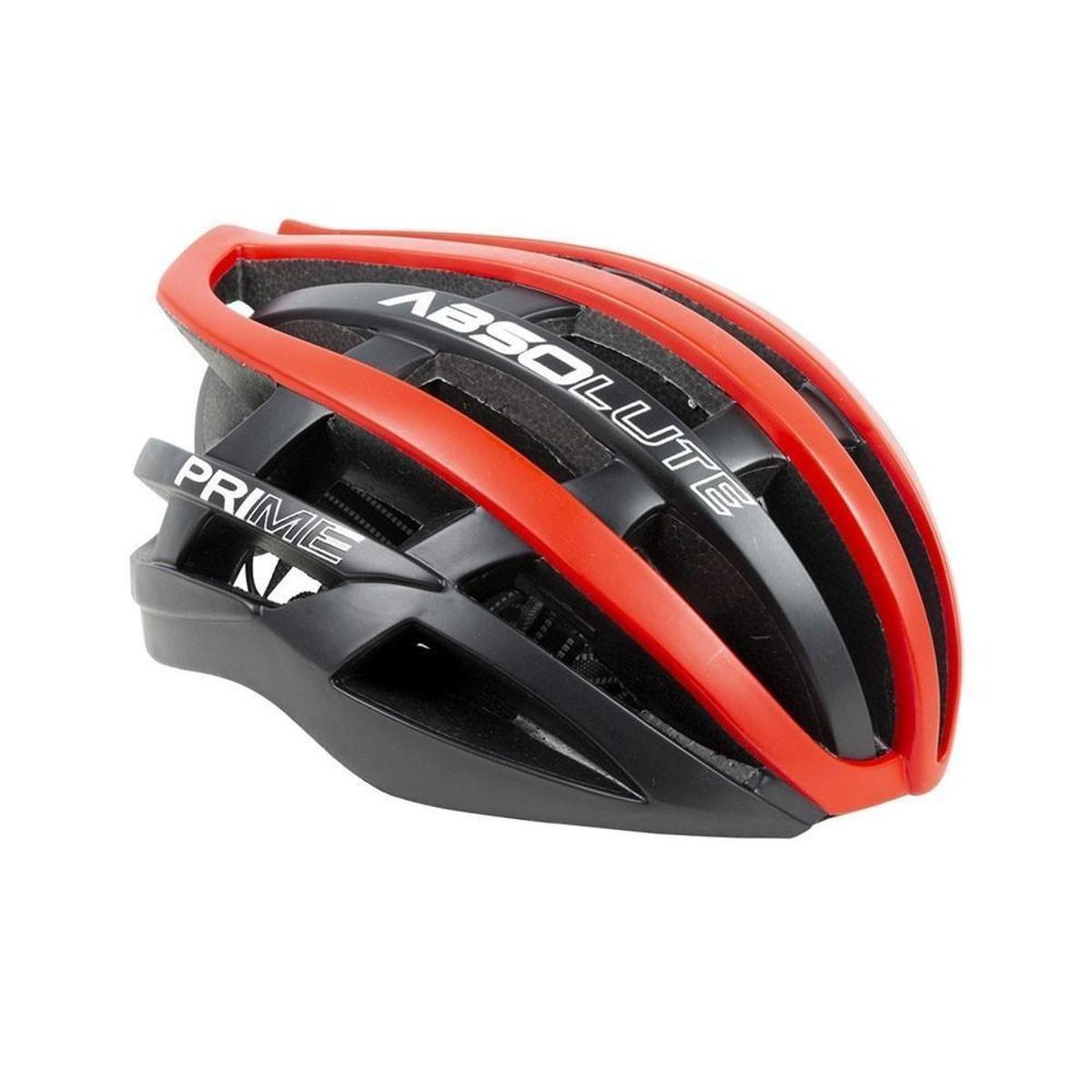 Capacete Ciclismo Absolute Prime - Preto+Vermelho | Netshoes