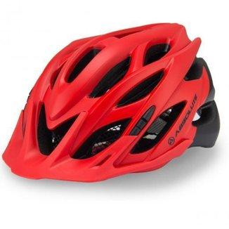 Capacete Ciclismo Absolute Wild Com Led Vermelho e Preto