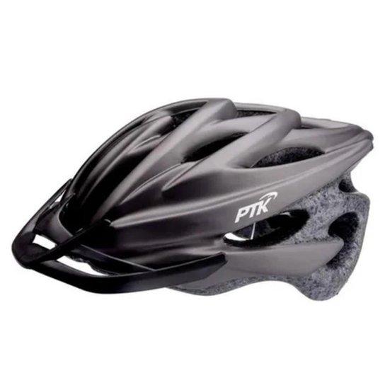 Capacete Ciclismo Adulto Resistente e Leve Bike Tamanho Regulável com Viseira - Preto
