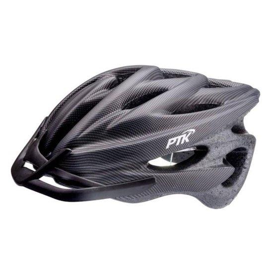 Capacete Ciclismo Adulto Resistente e Leve Bike Tamanho Regulável com Viseira - Preto+Poa