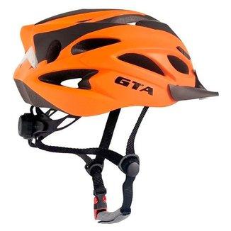 Capacete Ciclismo Bike Mtb Speed Gta Sinalizador Led Laranja