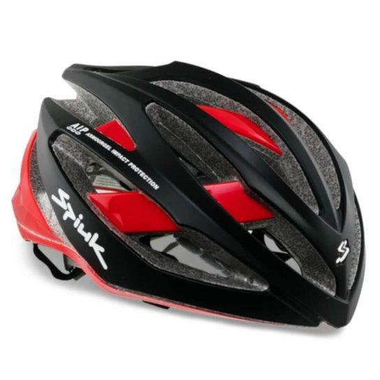 Capacete Ciclismo Spiuk Adante Preto Fosco/Vermelho - Preto+Vermelho