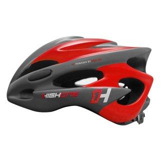 Capacete Ciclista Bike MTB Volcano New com Luz High One  - Cinza e Vermelho - M