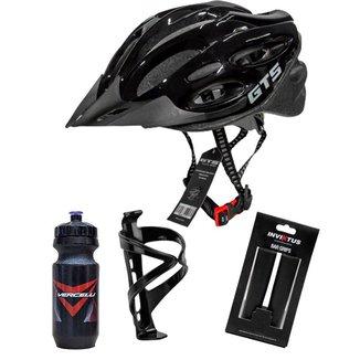 Capacete de Bike GTS + Caramanhola Suporte e Manopla -