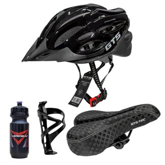 Capacete de Bike GTS + Caramanhola Suporte e Selim -