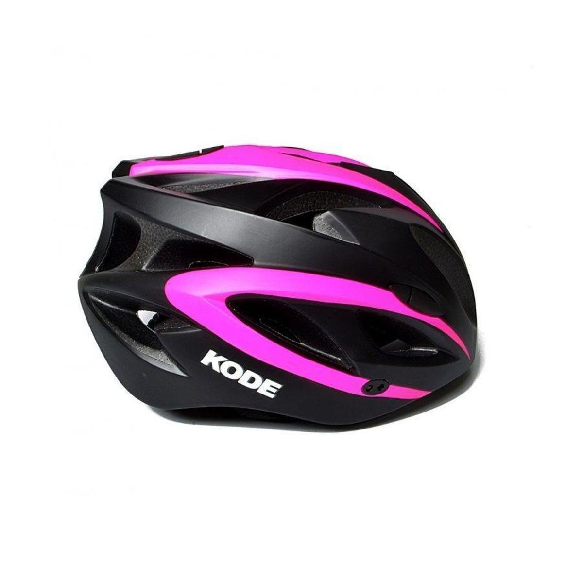 Capacete de ciclismo Kode Eagle - Preto e Rosa | Netshoes