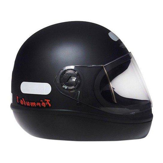 Capacete de Moto Fechado Taurus Fórmula 1 - Preto Fosco