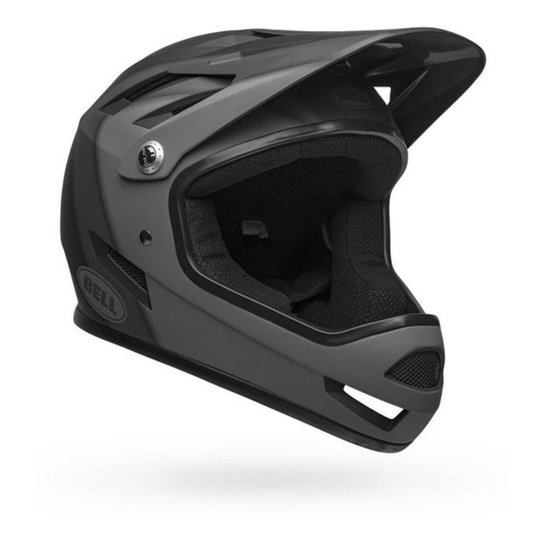 Capacete Enduro Downhill Bmx Ciclismo Full Face Bell Sanction - Preto