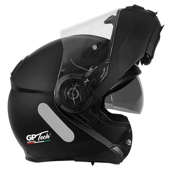 Capacete GP Tech A118 SV Articulado Robocop - Preto