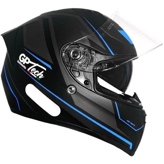 Capacete GP Tech V128 Faster C/ Viseira - Azul