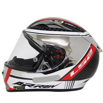 Capacete Ls2 Ff323 Indy Carbon Cromado