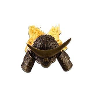 Capacete Miniatura Em Aço Estilo Samurai Para Peso De Papel