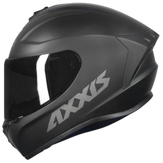 Capacete Moto Axxis Draken Uk Dekers Fosco Vector Fechado - Preto