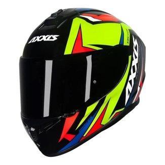 Capacete Moto Axxis Draken Uk Dekers Fosco Vector Fechado