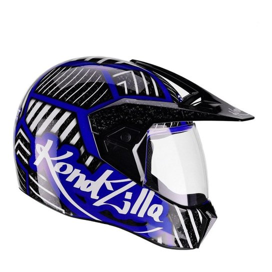 Capacete Moto Bieffe 3 Sport Kondzilla Shapes - Azul