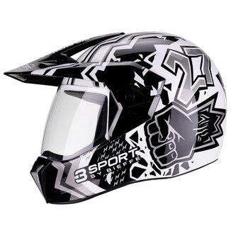 Capacete Moto Bieffe 3Sport Big Push Masculino Feminino