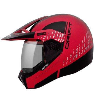 Capacete Moto Bieffe 3Sport Drift Feminino Masculino