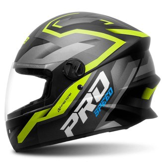 Capacete Moto Fechado Integral Pro Tork R8 Pro Speed Brilhante