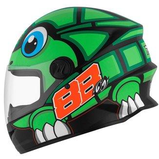 Capacete Moto Fechado Integral Pro Tork R8 Turtle Brilhante