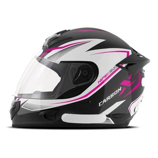 Capacete Moto Fechado Mixs MX2 Carbon X Brilhante