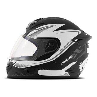 Capacete Moto Fechado Mixs MX2 Carbon x Fosco