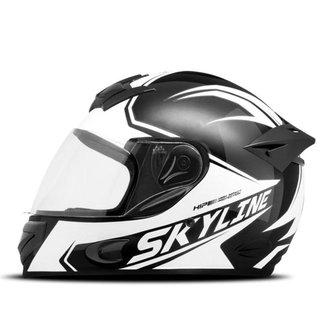 Capacete Moto Fechado Mixs MX2 Skyline Brilhante
