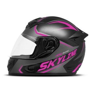 Capacete Moto Fechado Mixs MX2 Skyline Fosco