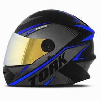 Capacete Moto Fechado Pro Tork R8 Viseira Dourada