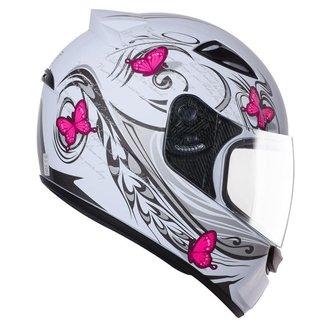 Capacete Moto Feminino Ebf New Spark Borboleta Fechado